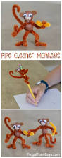 kids u0027 craft pipe cleaner monkeys googly eyes wooden beads and