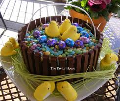 easter basket cake the taylor house