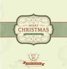 vintage christmas background and frame vector vector background