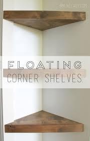 Corner Bathroom Shelving How To Make Corner Floating Shelves Detailed