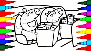 barbie coloring pages youtube peppa pig barbie snow white and george shopping cart coloring pages