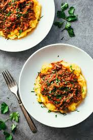 cuisine polenta crockpot braised beef ragu with polenta recipe pinch of yum