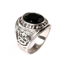 aliexpress buy mens rings black precious stones real vintage gem ring for men tibet silver plated with black