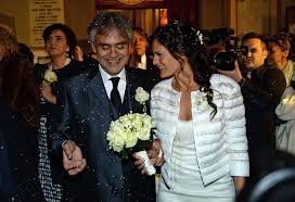 Blind Italian Singer Time To Say Goodbye Andrea Bocelli Marries Longtime Girlfriend Veronica Berti In Italy