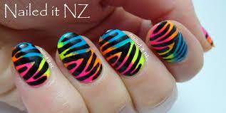 neon zebra print nail art tutorial on youtube