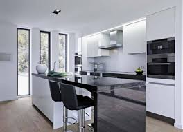 White Kitchen Island With Stools by Kitchen Islands Modern Black Vinyl Bar Stools Combined Black And