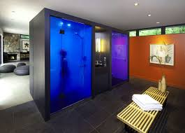 Pool Bathroom Ideas by Pool House Guest Suite Contemporary Home Interior Design