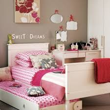 bedroom appealing pink fabric twin pillow teen girls bedroom