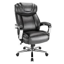Realspace Office Furniture by Realspace Axton Big Tall Bonded Leather High Back Chair Dark