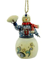 bargains on jim shore snowman football resin ornament