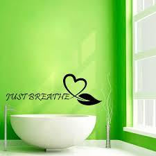 floral heart wall decals quotes just breathe spa salon zoom