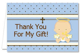 baptism christening thank you cards baby boy caucasian