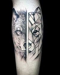 Forearm Wolf - 90 geometric wolf designs for manly ink ideas regarding