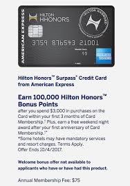 hilton surpass 100k bonus 1 free night offer is back the