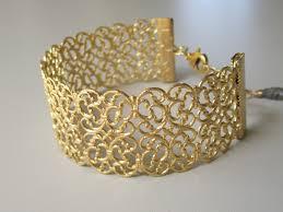golden cuff bracelet images Filigree bracelet bridal bracelet gold cuff by eldortinajewelry jpg
