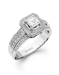 Wedding Rings Princess Cut by Simon G Jewelry Engagement Rings