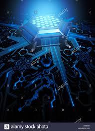futuristic computing technology artwork stock photo royalty free