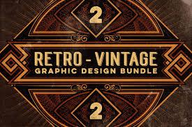 vintage design bundle 500 retro vintage design elements only 27 mightydeals