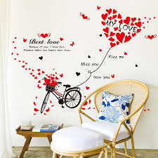 romantic bicycle lovers love stickers sitting room bedroom sofa see larger image