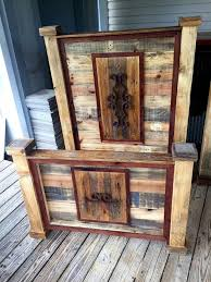 rustic pallet headboard and footboard sets