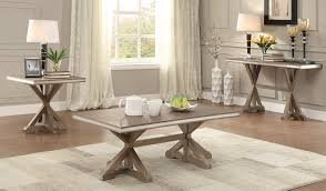 homelegance beaugrand coffee table set light brown with