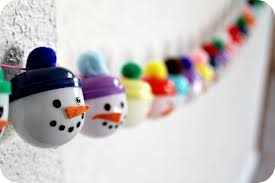 make a recycled snowmen advent calendar u2013 dollar store crafts