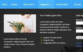 theme drupal menu block md megamenu mega drupal