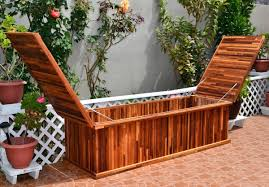 Wooden Storage Bench How To Build An Outdoor Storage Bench Cleaning Bathroom Tile Grout
