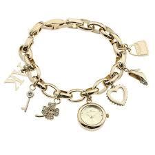 anne klein charm bracelet watches images Anne klein ak10 7604chrm women 39 s swarovski crystal gold tone charm jpg