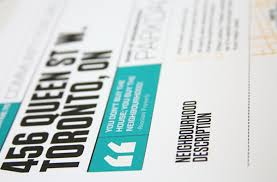 Estate Feature Sheet Template Sky Studio Presentation Design For Digital Print And