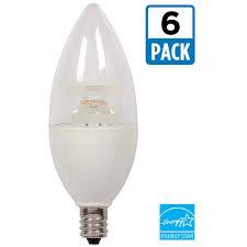 Dimmable Led Chandelier Light Bulbs E17 Led Light Bulbs Light Bulbs The Home Depot