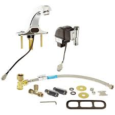 zurn battery powered single touchless bathroom faucet with