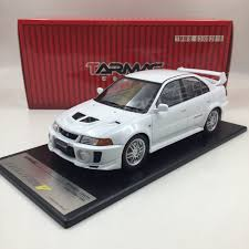 mitsubishi evolution 1 tarmac works mitsubishi evolution v gsr resin scale 1 18 in white