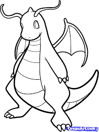 how to draw dragonite dragonite step by step pokemon characters