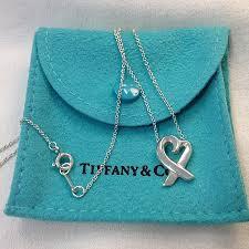 heart pendant necklace tiffany images Tiffany co paloma picasso loving heart pendant necklace w jpg