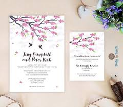 Cherry Blossom Wedding Invitations Invitation Elegant Wedding Invitations 2667370 Weddbook
