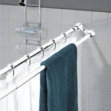 Small Shower Curtain Rod Bathroom Shower Curtain Rods Duo Shower Curtain Rod And Towel Rack