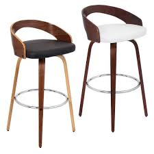 modern bar stools impressive grotto mid century modern wood barstool free shipping