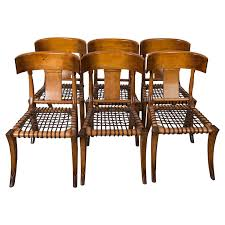 Kreiss Outdoor Furniture by Set Of Six Klismos Style Dinning Chairs By Kreiss At 1stdibs