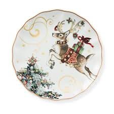 christmas plates twas the before christmas dinner plates reindeer williams