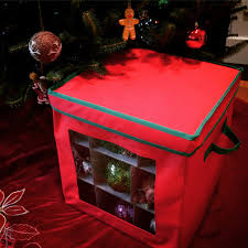 see through christmas ornament storage box for 27 large ornaments