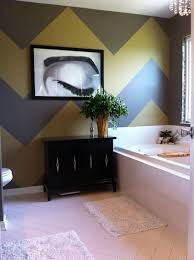 bathroom gray bathroom with yellow tile backsplash also pedestal