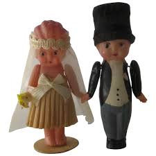 groom cake toppers 1930s celluloid groom cake toppers in box mendocino