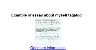 biography exle yourself exle of essay about myself tagalog google docs
