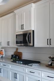 shiplap kitchen backsplash with cabinets white shiplap backsplash in cottage kitchen cottage kitchen