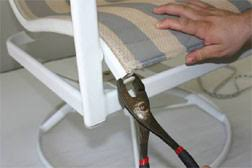 Fixing Patio Chairs How To Replace Fabric On Patio Chair Outdoors Pinterest