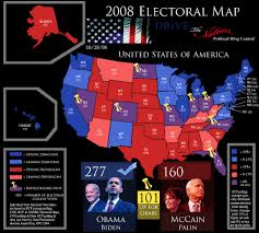2008 Presidential Election Map by National Popular Vote 12160 Social Network