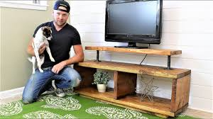 How To Build Wood Tv Stands The Super Easy Tv Stand Diy Project Youtube