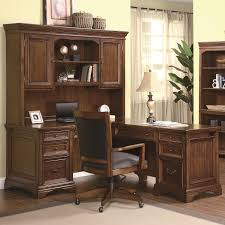 L Shaped Office Desk With Hutch Flexsteel Wynwood Collection Valencia L Shaped Desk With Hutch