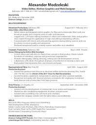 Video Editor Resume Sample by Video Editor Resume Best Template Collection